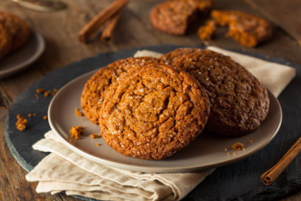 Chewy Triple Ginger Chocolate Cookies
