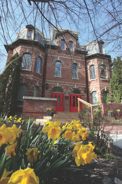 Gildas Club Greater Toronto Clubhouse With Daffodils Copy