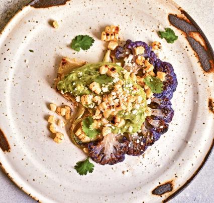 Grilled Cauliflower Steaks Avo Cilantro Sauce Cauliflower Power