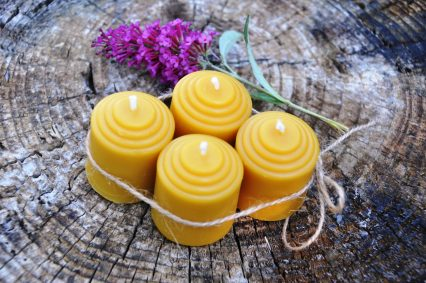 Pure Beeswax Votive Candles 1