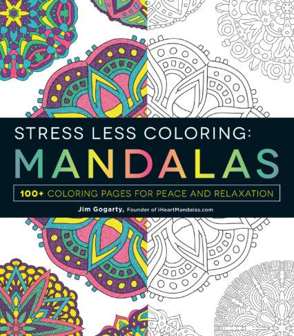 Stress Less Coloring Adams Media Mandala 0