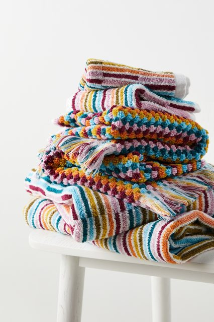 Rainbow bath towels 1