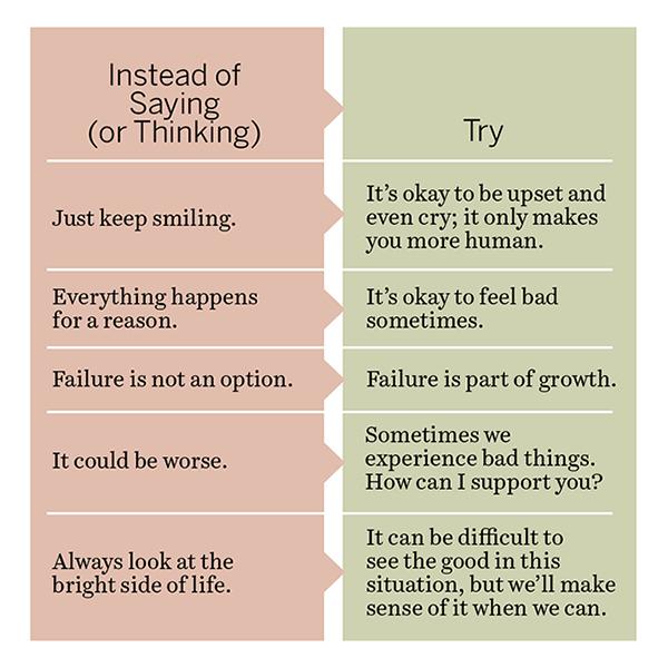 Avoid toxic positive for a positive mental attitude