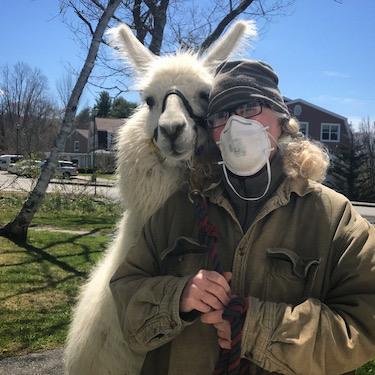 Harry the Llama and Katherine Dunn
