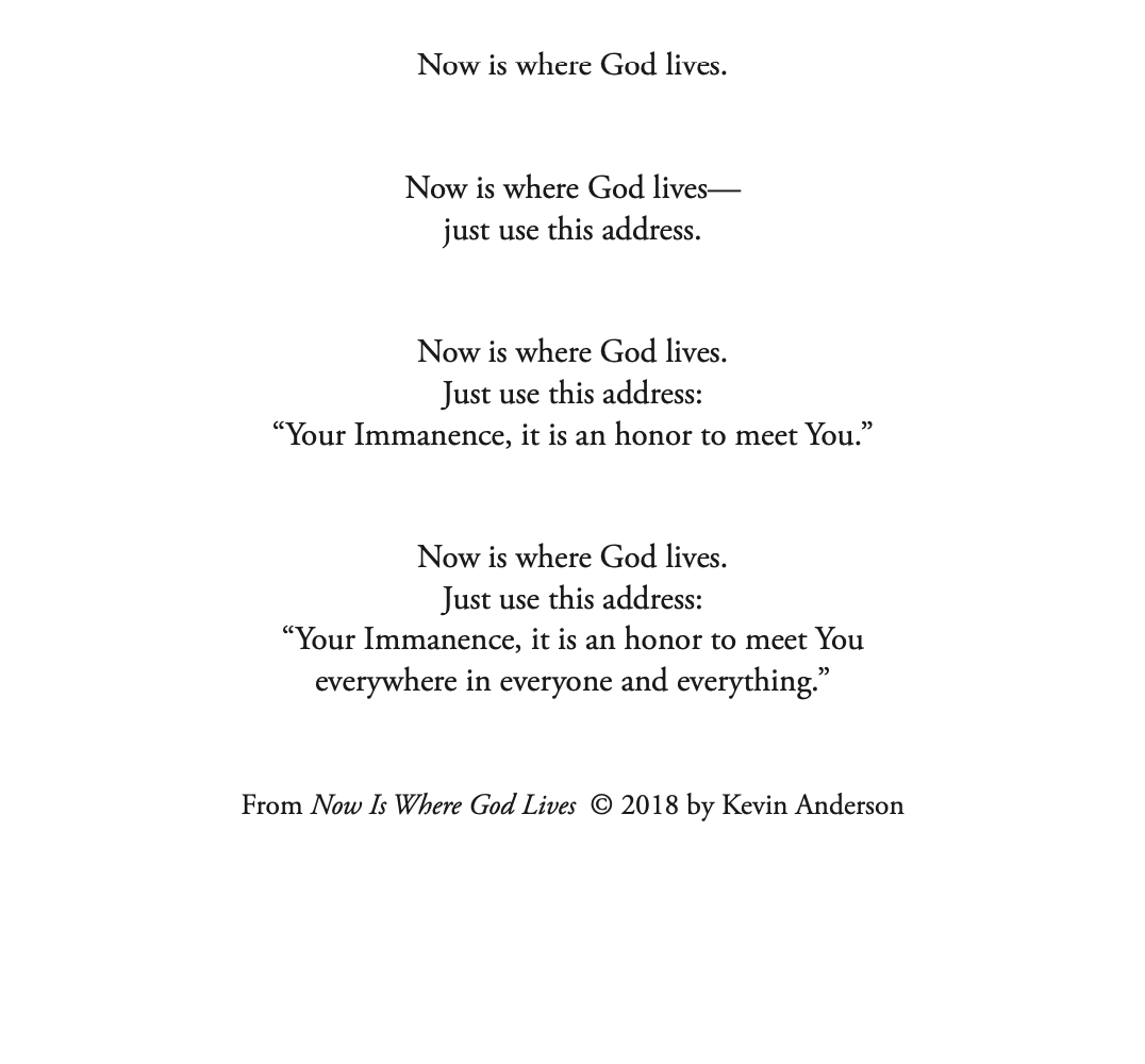 Now Is Where God Lives Nested Meditation