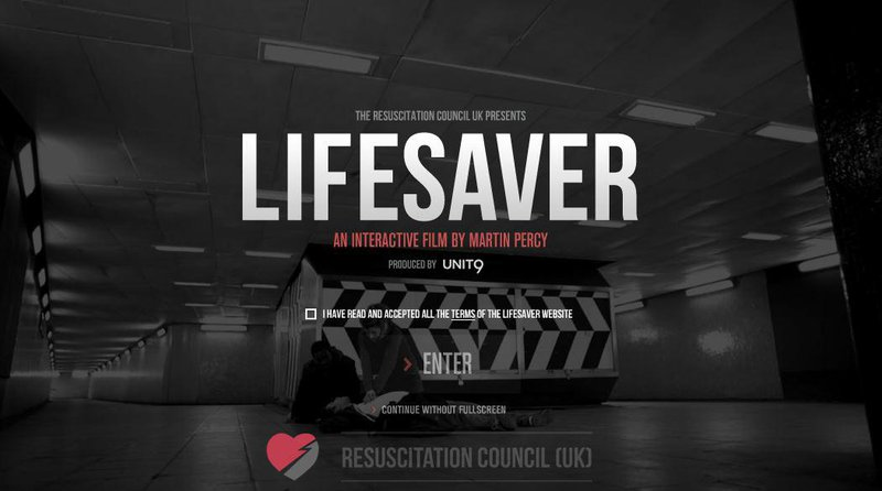Lifesaver is an interactive video designed to teach about resuscitation