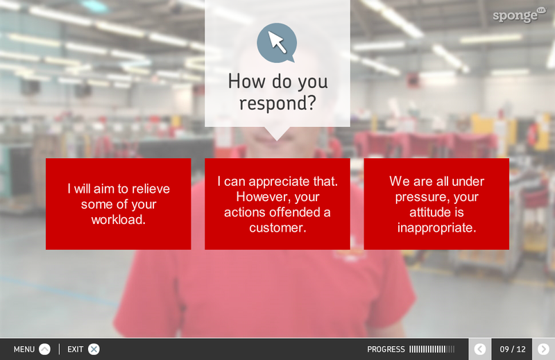 The Royal Mail used interactive video to help teach managers about difficult conversations