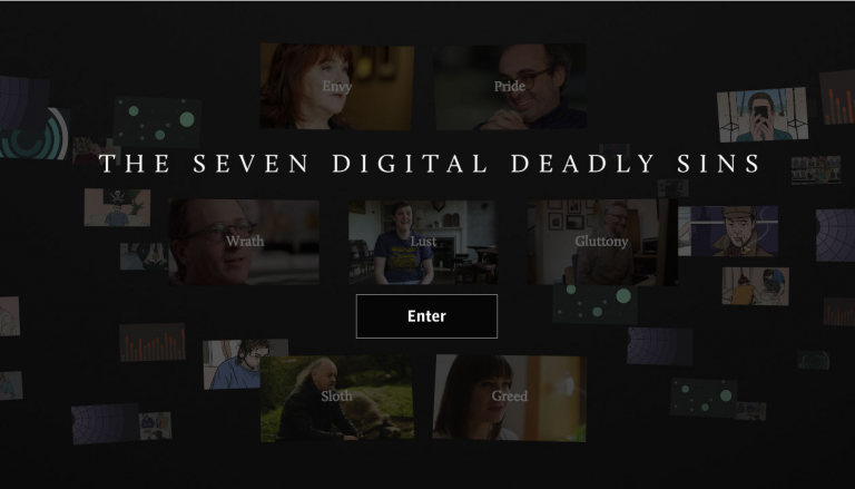 The Guardian's seven digital deadly sins featured interactive video