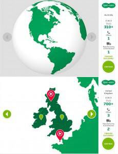 Specsavers Induction Elearning Interactive Map