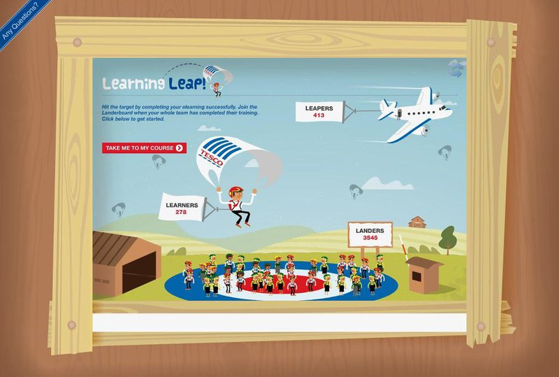 Tesco Learning leap compliance course screen grab