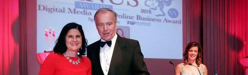Louise Pasterfield of Sponge wins at Devon Venus Awards