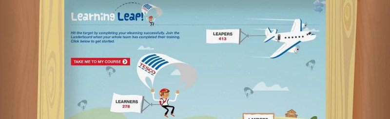Tesco Learning Leap compliance campaign slide