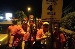 Photo of Sponge midnight walkers during the St Luke's Midnight Walk