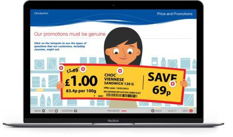 Results Tesco Macbook Mockup