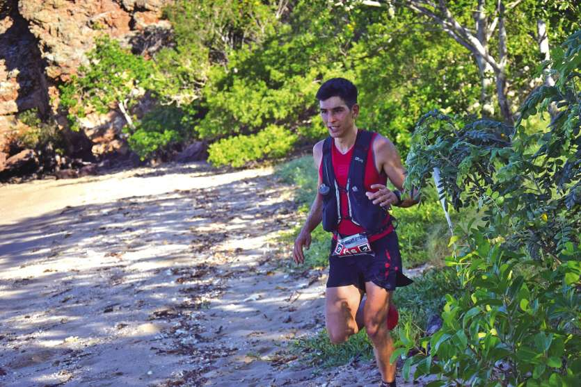 Guillaume Boccas a bouclé les 22 km de course en 1 h 46 samedi à Païta. Photo MRB