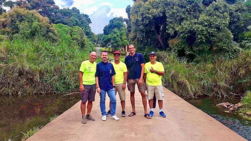 L'équipe organisatrice de l'événement, ici de gauche à droite : Laurent Lecaille, Frédéric Devillaz, Karl Dawano, Raphaël Riquet et Enzo Kabar. Photo SNSM