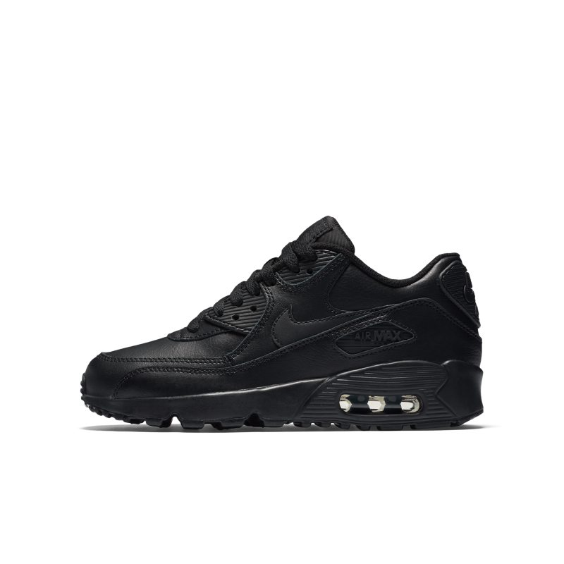 Nike Air Max 90 Leather Older Kids' Shoe - Black