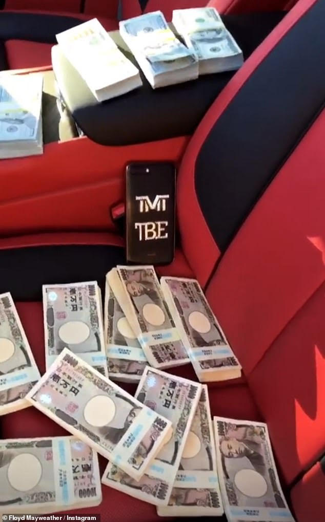 MAYWEATHER FLAUNTS $9M EARNING FROM TOKYO EXHIBITION