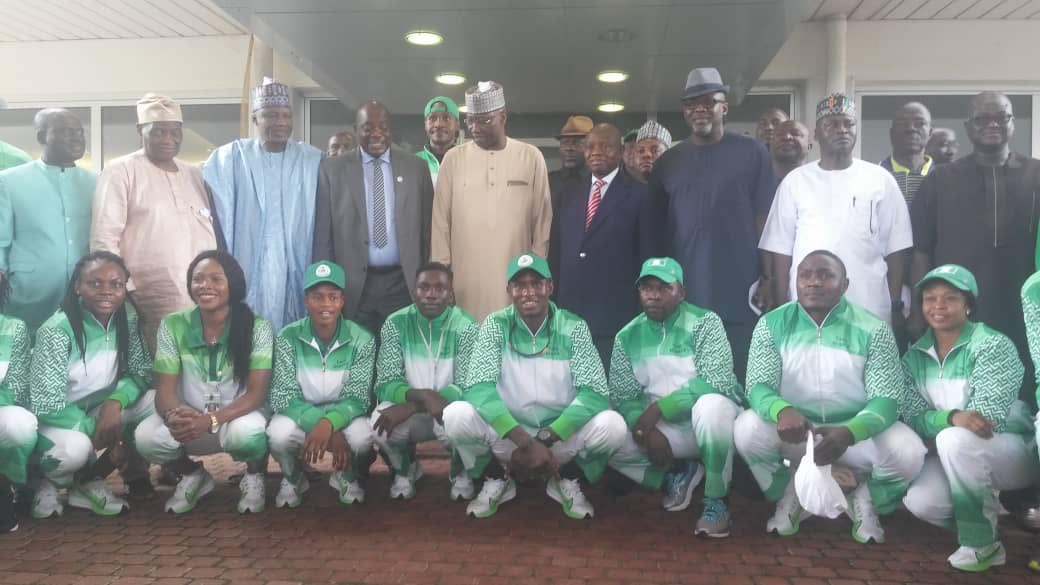 2019 AAG: BUHARI CHARGES TEAM NIGERIA TO WIN CLEAN MEDALS