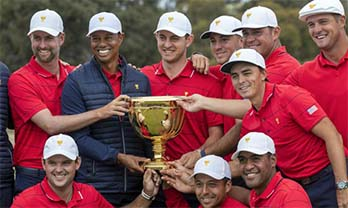 TIGER WOODS LEADS US TO PRESIDENTS CUP VICTORY
