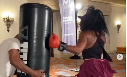 VIDEO: SERENA TRAINS WITH TYSON FOR A BETTER 2020 GRAND SLAM SHOW