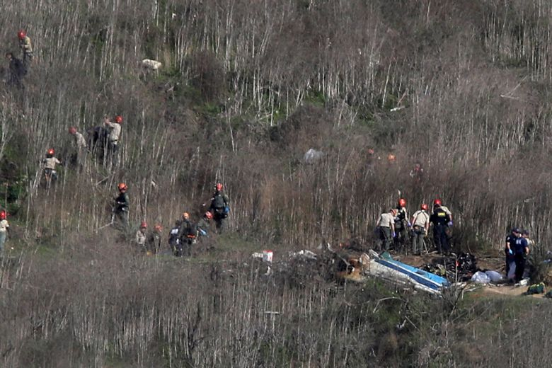 BODIES RETRIEVED FROM KOBE BRYANT'S HELICOPTER CRASH SITE