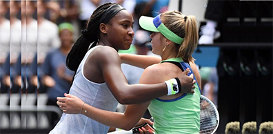 END OF THE ROAD FOR NEW STAR, COCO GAUFF AT AUSTRALIAN OPEN