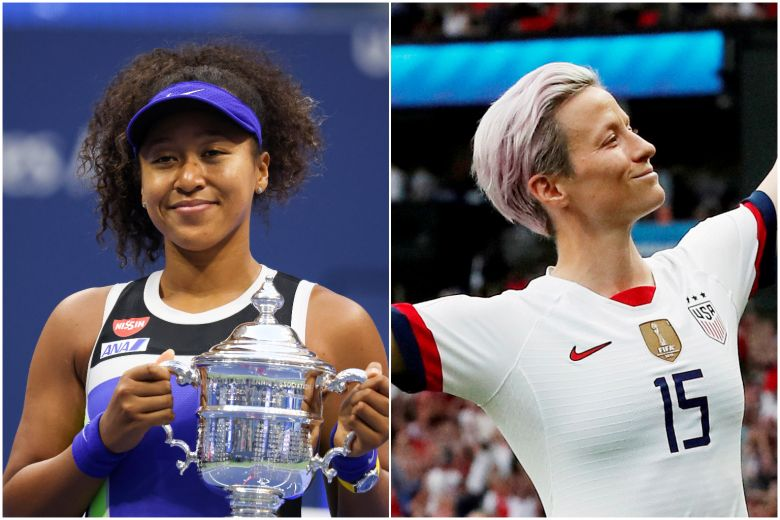 TENNIS' NAOMI OSAKA, FOOTBALL'S MEGAN RAPINOE AMONG ATHLETES ON TIME 100 LIST