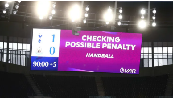 PREMIER LEAGUE REFEREES TOLD TO BE MORE LENIENT IN HANDBALL DECISIONS