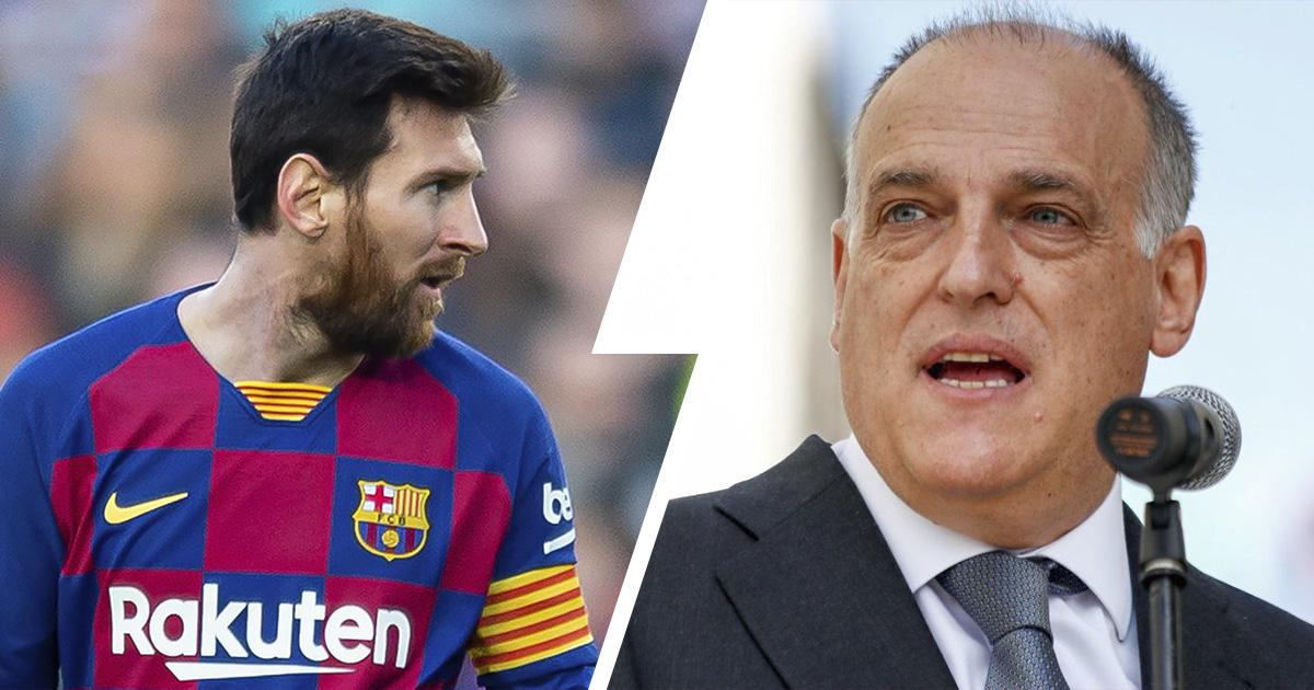 LA LIGA PRESIDENT JAVIER TEBAS BRACES UP FOR MESSI'S EXIT FROM BARCELONA