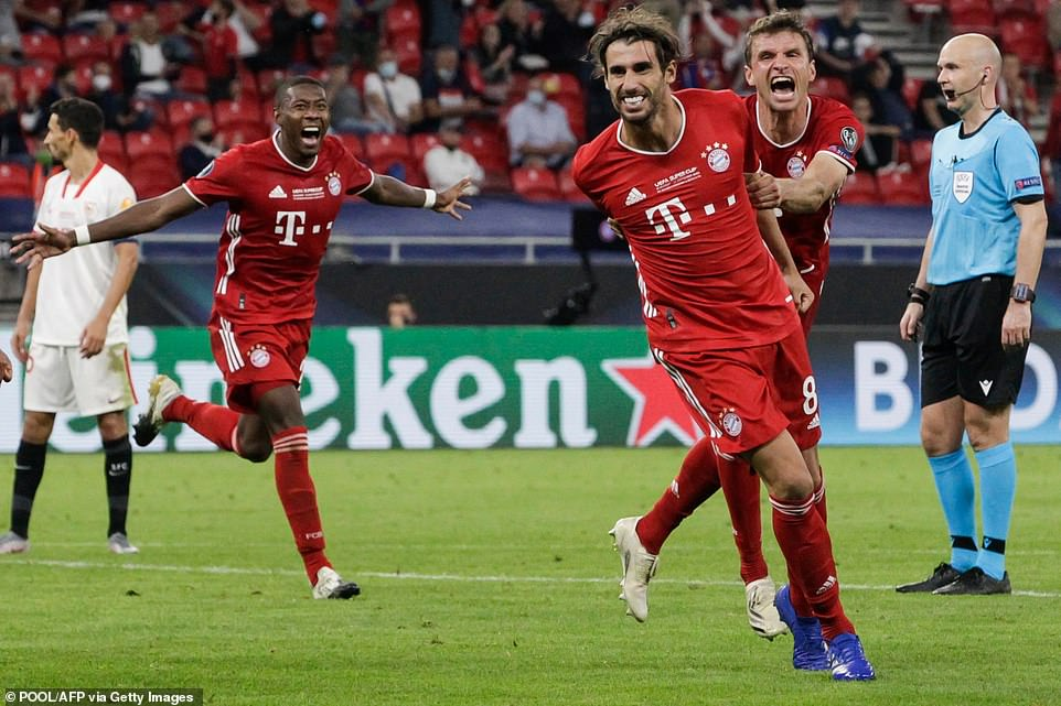 BAYERN MUNICH WIN UEFA SUPER CUP
