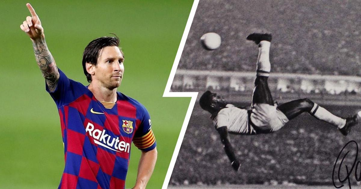 MESSI CLOSE TO BEATING PELE'S ALL-TIME GOAL RECORD