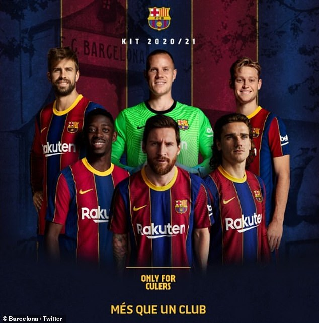 UPROAR AS BARCA PROMOTE NEW HOME KIT WITH MESSI'S IMAGE