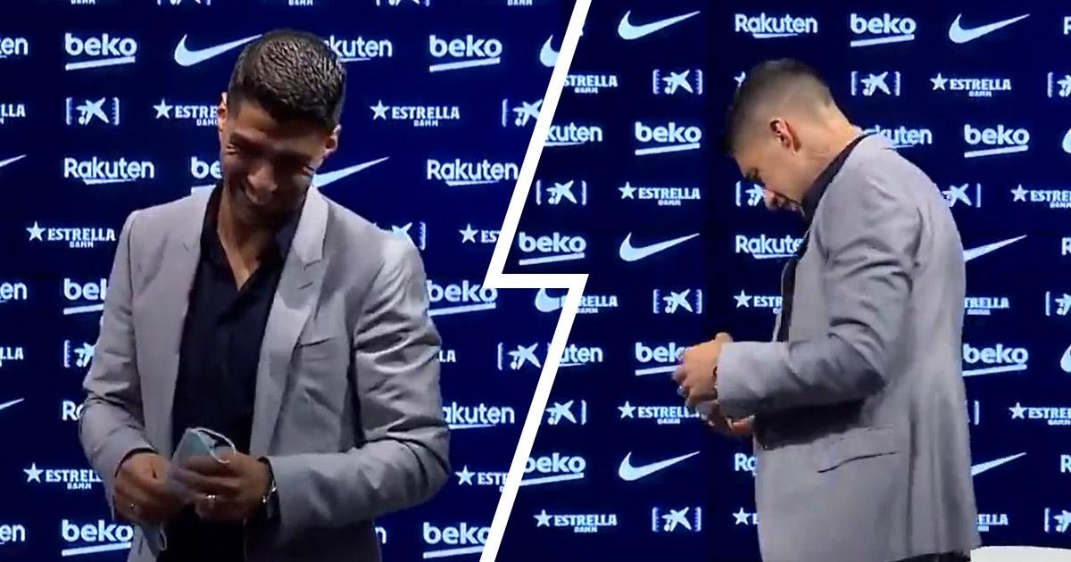 SUÁREZ BREAKS DOWN IN TEARS AT BARCELONA FAREWELL