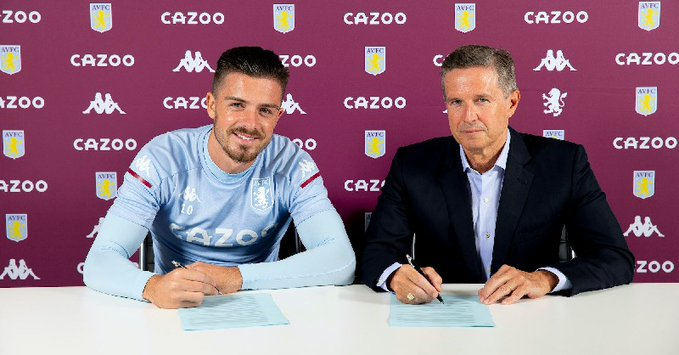 MANCHESTER UNITED MISS TARGET; JACK GREALISH SIGNS NEW 5-YEAR CONTRACT AT ASTON VILLA