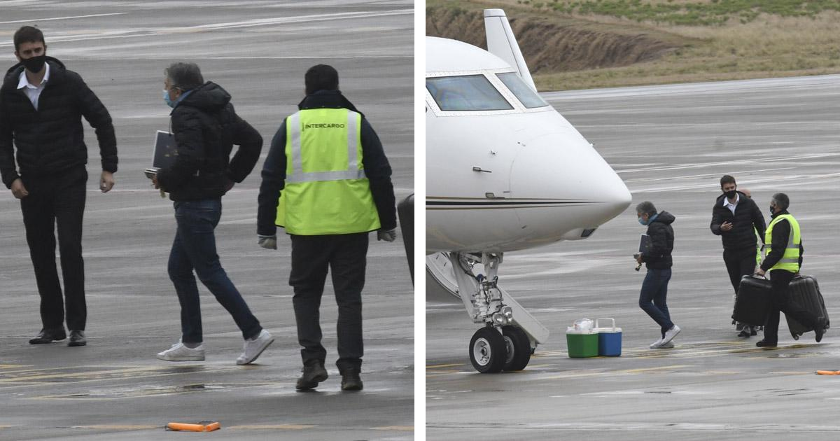MESSI'S FATHER BOARDS PLANE TO BARCELONA
