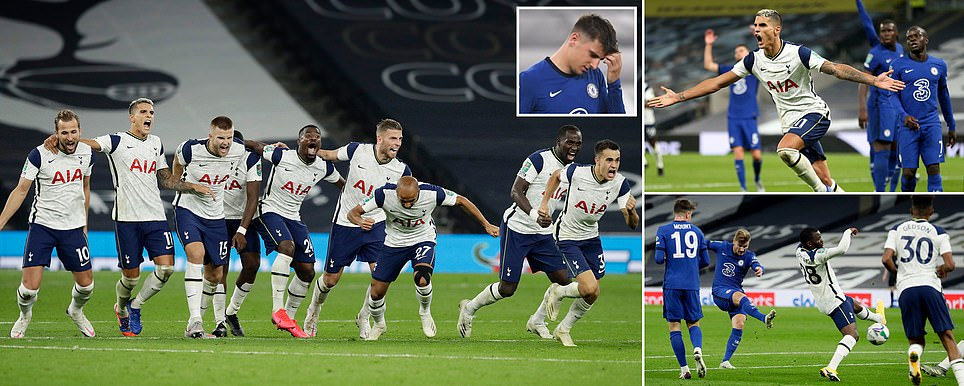 TOTTENHAM BEAT CHELSEA ON PENALTIES TO ADVANCE IN CARABAO CUP