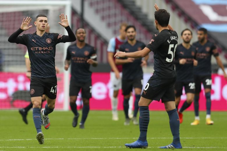 SUBSTITUTE FODEN RESCUES MAN CITY IN WEST HAM DRAW