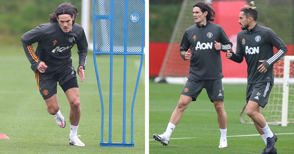 'WELCOME TO UNITED FAMILY'; CAVANI TRAINS WITH FIRST TEAM AFTER QUARANTINE ENDS