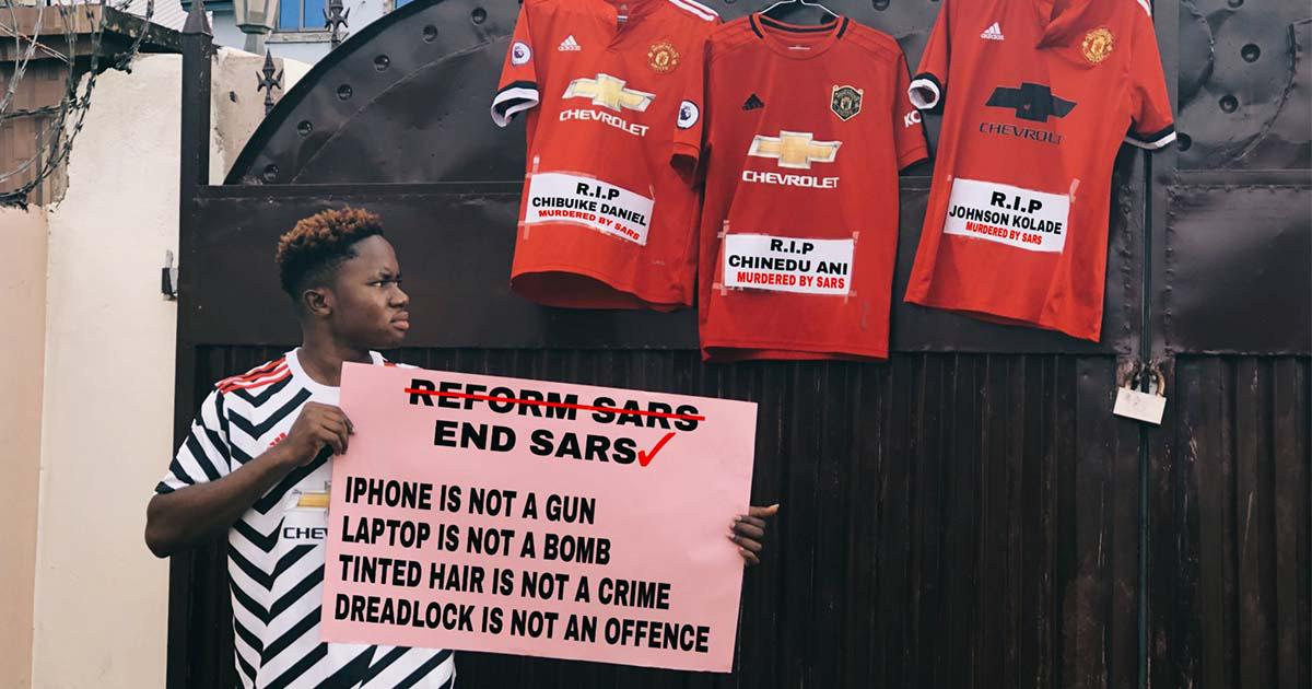 #ENDSARS: NIGERIAN MAN UNITED FANS ASK FOR CLUB'S SUPPORT AMID MASS POLICE BRUTALITY