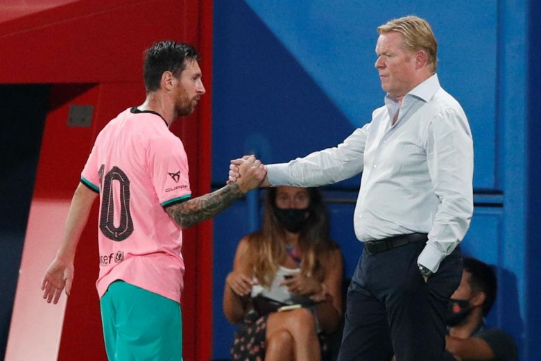 BARCA COACH RONALD KOEMAN DISAGREES WITH PREDECESSOR, SAYS LIONEL MESSI NOT HARD TO MANAGE