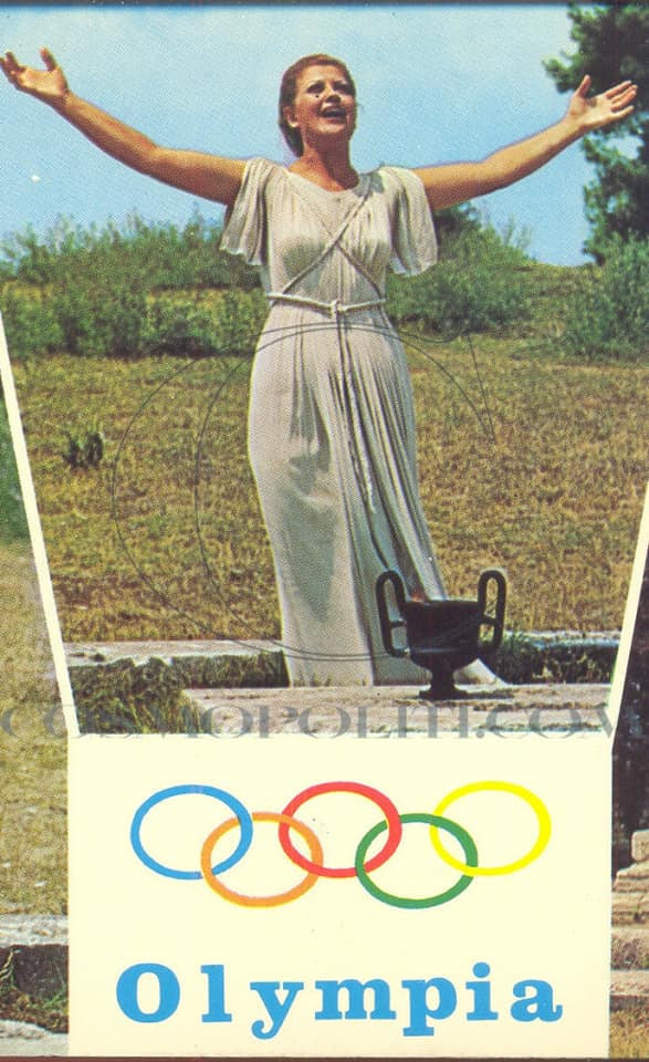 LONGEST SERVING OLYMPIC FLAME PRIESTESS MOSCHOLIOU DIES AGED 87