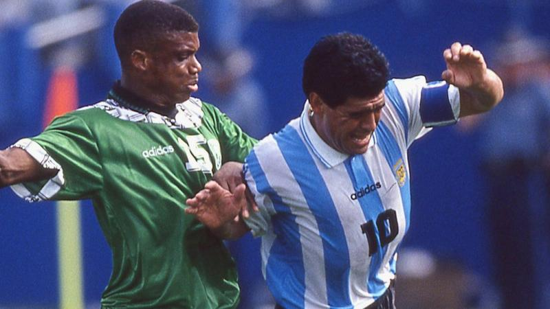 NIGERIA'S SUNDAY OLISEH WRITES ON WHAT IT WAS TO MARK MARADONA