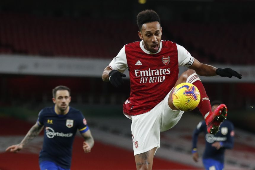ARSENAL MANAGER ARTETA SWEATING OVER AUBAMEYANG FITNESS