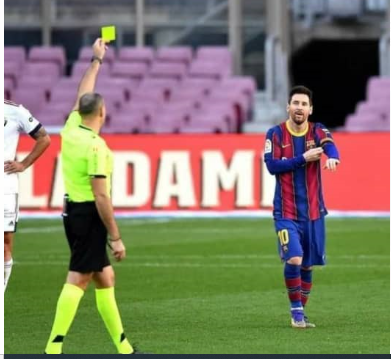 LA LIGA REFEREE REGRETS GIVING MESSI YELLOW CARD OVER MARADONA
