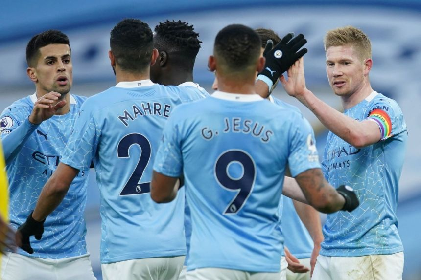 MAN CITY INTO TOP FOUR AS FANS RETURN TO PREMIER LEAGUE