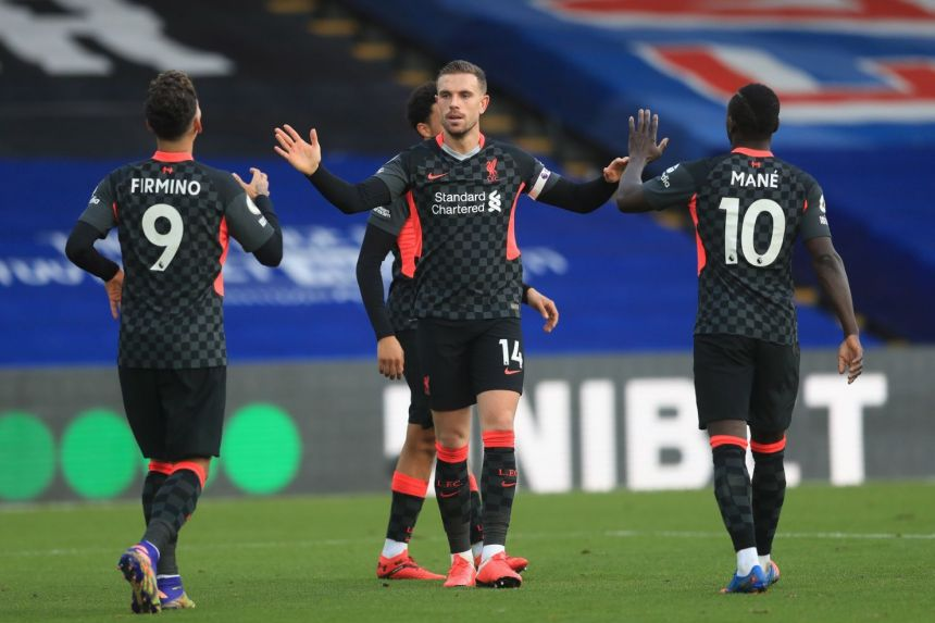 LIVERPOOL THRASH PALACE 7-0 TO GO SIX POINTS CLEAR