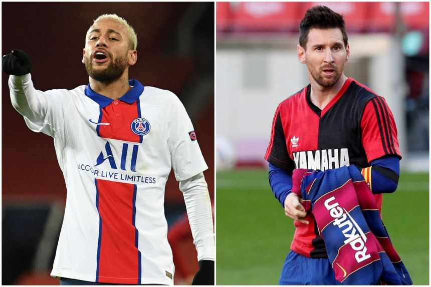NEYMAR DROPS HINT OF REUNION WITH MESSI AT MAN CITY