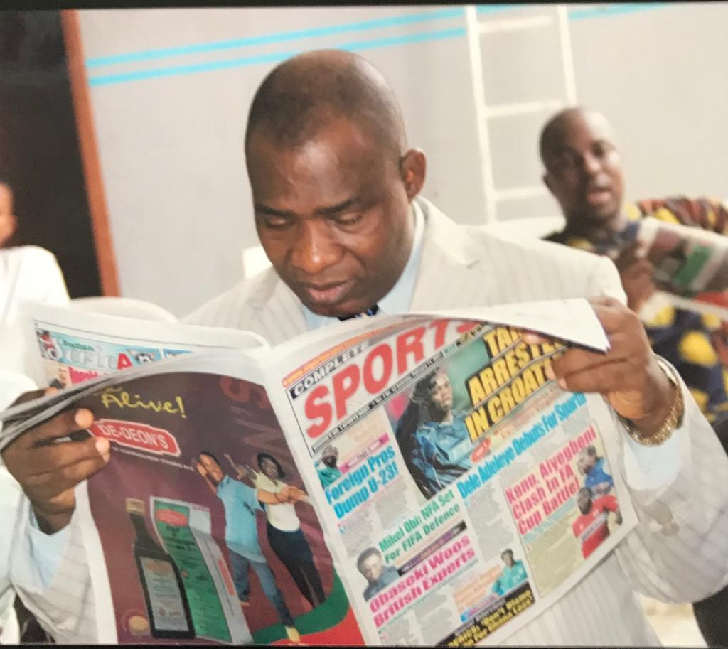 SPORTS JOURNALISM LEGEND, OJEAGBASE HITS MILESTONE OF 70