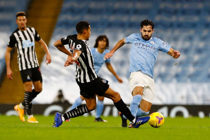 DOMINANT MANCHESTER CITY BEAT NEWCASTLE 2-0 TO GO FIFTH